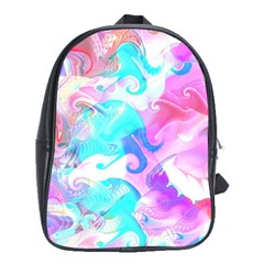 Background Art Abstract Watercolor Pattern School Bag (xl)