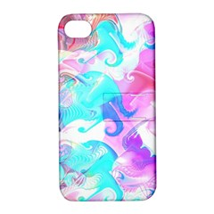 Background Art Abstract Watercolor Pattern Apple Iphone 4/4s Hardshell Case With Stand by Nexatart