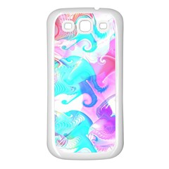 Background Art Abstract Watercolor Pattern Samsung Galaxy S3 Back Case (white) by Nexatart