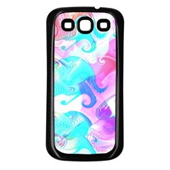 Background Art Abstract Watercolor Pattern Samsung Galaxy S3 Back Case (black)