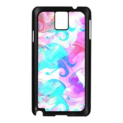 Background Art Abstract Watercolor Pattern Samsung Galaxy Note 3 N9005 Case (black)