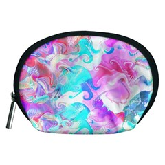 Background Art Abstract Watercolor Pattern Accessory Pouches (medium)