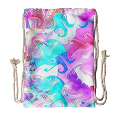 Background Art Abstract Watercolor Pattern Drawstring Bag (large)