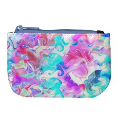 Background Art Abstract Watercolor Pattern Large Coin Purse by Nexatart