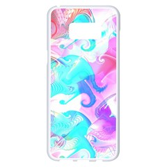 Background Art Abstract Watercolor Pattern Samsung Galaxy S8 Plus White Seamless Case
