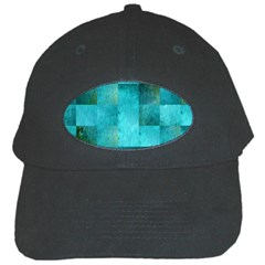 Background Squares Blue Green Black Cap by Nexatart