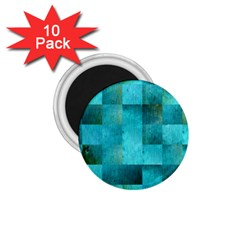 Background Squares Blue Green 1 75  Magnets (10 Pack)