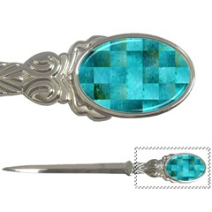 Background Squares Blue Green Letter Openers