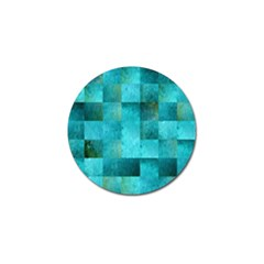 Background Squares Blue Green Golf Ball Marker (10 Pack)