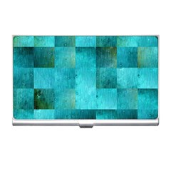 Background Squares Blue Green Business Card Holders