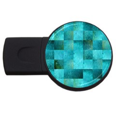 Background Squares Blue Green Usb Flash Drive Round (2 Gb)