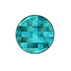Background Squares Blue Green Hat Clip Ball Marker (4 Pack) by Nexatart