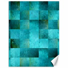 Background Squares Blue Green Canvas 12  X 16