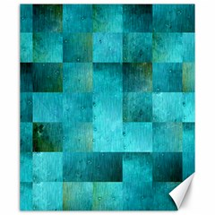 Background Squares Blue Green Canvas 20  X 24   by Nexatart