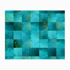 Background Squares Blue Green Small Glasses Cloth (2 Side)