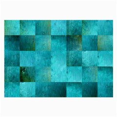 Background Squares Blue Green Large Glasses Cloth