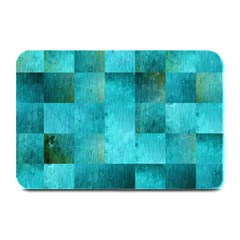 Background Squares Blue Green Plate Mats