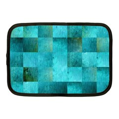 Background Squares Blue Green Netbook Case (medium)