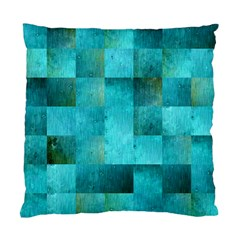 Background Squares Blue Green Standard Cushion Case (two Sides)
