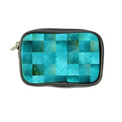 Background Squares Blue Green Coin Purse