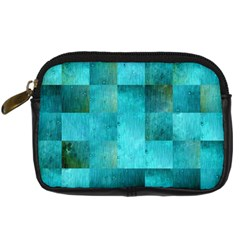 Background Squares Blue Green Digital Camera Cases