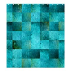 Background Squares Blue Green Shower Curtain 66  X 72  (large)  by Nexatart