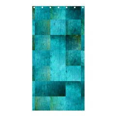 Background Squares Blue Green Shower Curtain 36  X 72  (stall)
