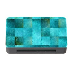 Background Squares Blue Green Memory Card Reader With Cf by Nexatart