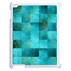 Background Squares Blue Green Apple Ipad 2 Case (white)