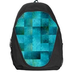 Background Squares Blue Green Backpack Bag