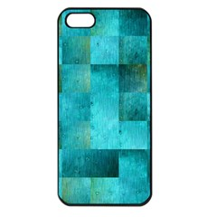 Background Squares Blue Green Apple Iphone 5 Seamless Case (black)