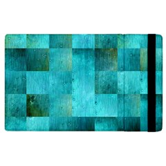 Background Squares Blue Green Apple Ipad 2 Flip Case