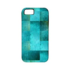 Background Squares Blue Green Apple Iphone 5 Classic Hardshell Case (pc+silicone)