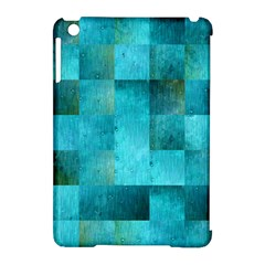 Background Squares Blue Green Apple Ipad Mini Hardshell Case (compatible With Smart Cover)