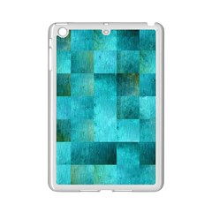 Background Squares Blue Green Ipad Mini 2 Enamel Coated Cases