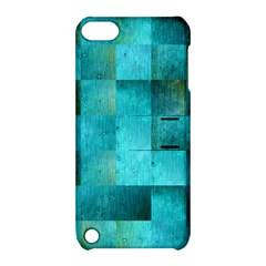 Background Squares Blue Green Apple Ipod Touch 5 Hardshell Case With Stand