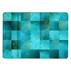 Background Squares Blue Green Samsung Galaxy Tab 10 1  P7500 Flip Case