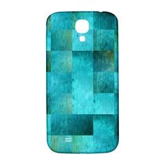 Background Squares Blue Green Samsung Galaxy S4 I9500/i9505  Hardshell Back Case