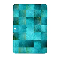 Background Squares Blue Green Samsung Galaxy Tab 2 (10 1 ) P5100 Hardshell Case