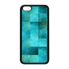 Background Squares Blue Green Apple Iphone 5c Seamless Case (black) by Nexatart