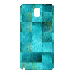 Background Squares Blue Green Samsung Galaxy Note 3 N9005 Hardshell Back Case