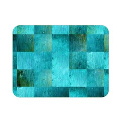 Background Squares Blue Green Double Sided Flano Blanket (mini)