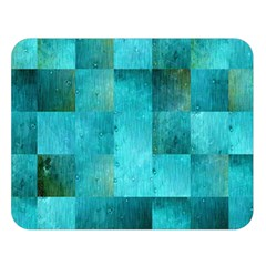 Background Squares Blue Green Double Sided Flano Blanket (large)