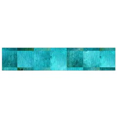 Background Squares Blue Green Small Flano Scarf by Nexatart