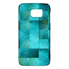 Background Squares Blue Green Galaxy S6