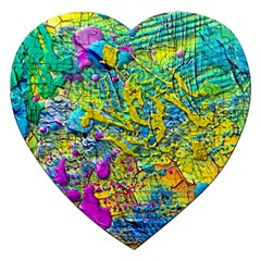 Background Art Abstract Watercolor Jigsaw Puzzle (heart)