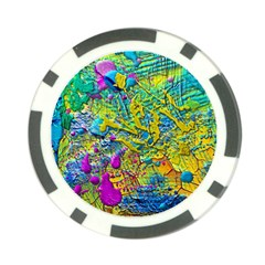 Background Art Abstract Watercolor Poker Chip Card Guard
