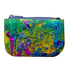 Background Art Abstract Watercolor Large Coin Purse