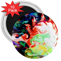 Background Art Abstract Watercolor 3  Magnets (10 Pack)  by Nexatart