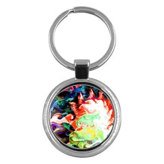 Background Art Abstract Watercolor Key Chains (round)